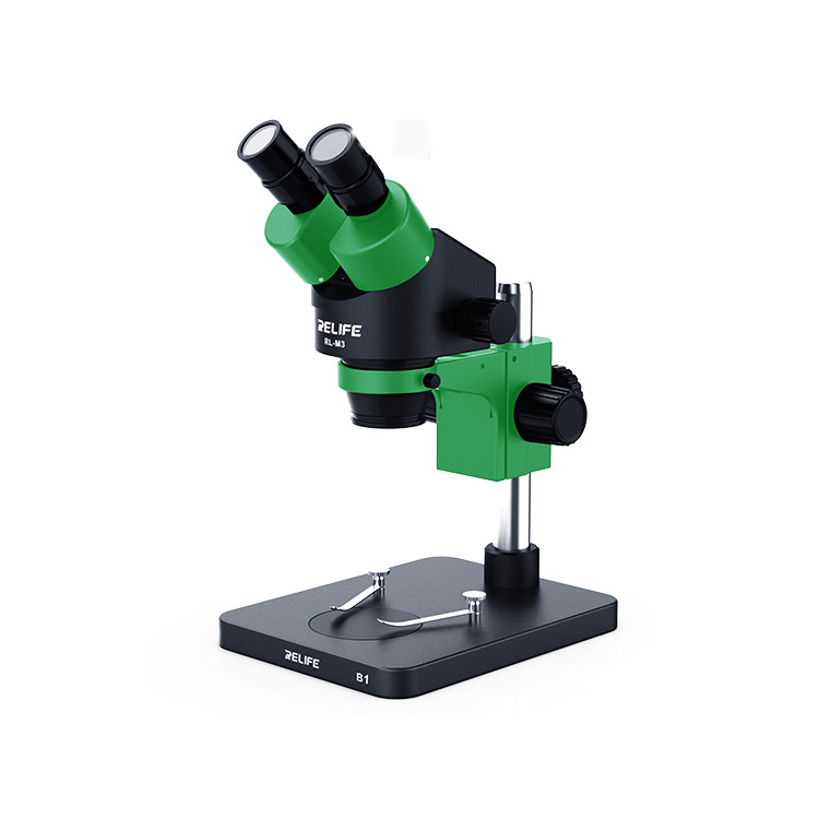 RELIFE Trinocular Stereo Microscope 0.7-4.5X Continuous Zoom Microscope
