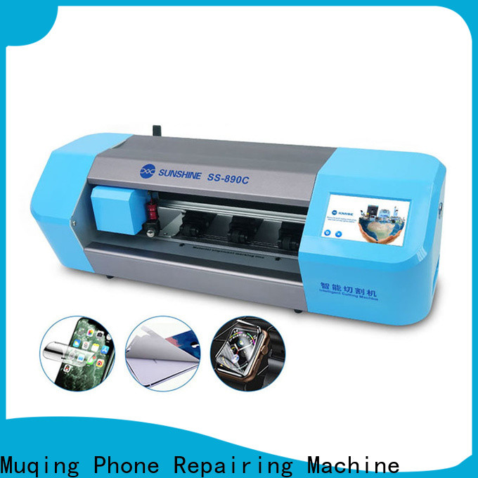 Muqing mobile screen protector cutting machine company for sale