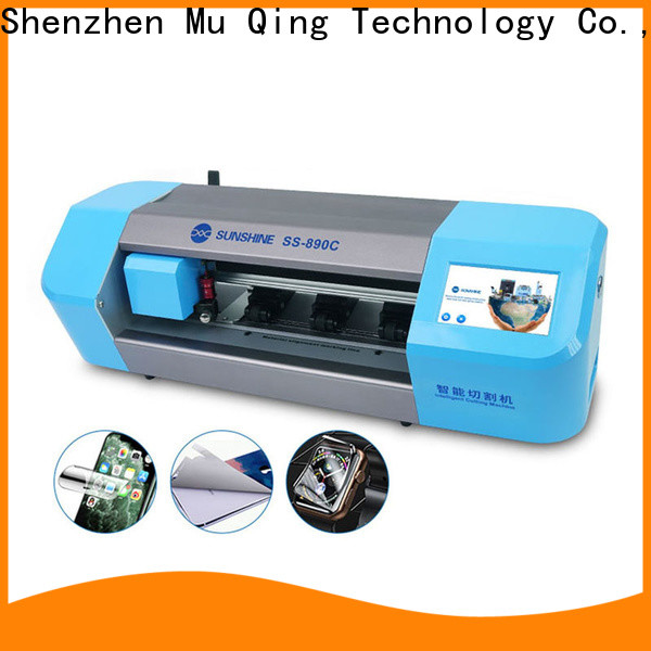 Muqing mobile screen protector cutting machine factory for phone repairing