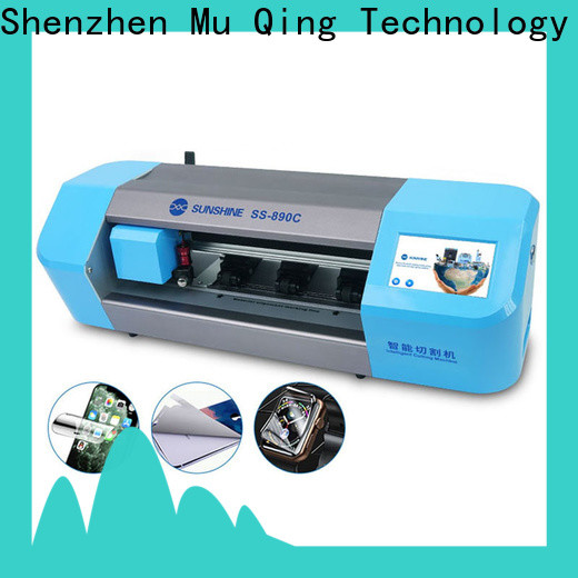 Muqing newest mobile screen protector cutting machine company for business