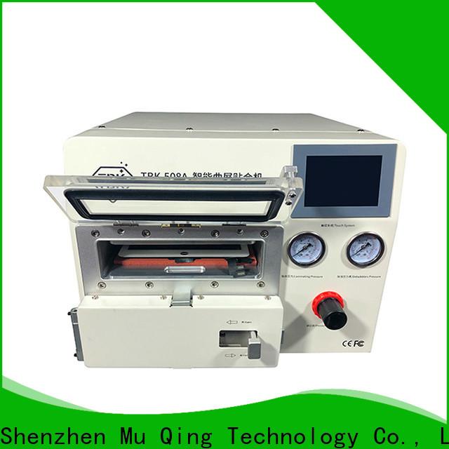 Muqing flat screen curved oca lamination machine factory for phone