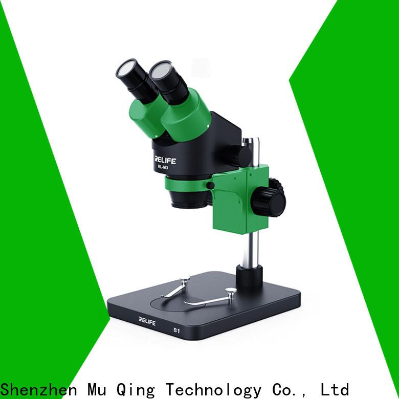 Muqing trinocular microscope machine manufacturers for phone repairing
